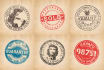 create a retro STAMP logo or badge