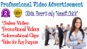 create a PROMO video or commercial