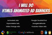 create html5 animated banners and html5 gwd ad banners