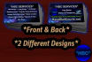 design 2 Versions Of An Attractive Double Sided Business Card