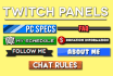 design 6 Twitch Panel Headers