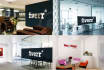 do 10 realistic Office Interior branding logo mockups