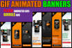 design stunning professional  animated gif and static banner