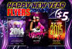 design great NEW year Flyers