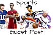 do Guest Post on Sports Niche Site
