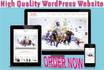 build a unique WordPress website for you