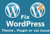do any Wordpress work or fix errors and css issues