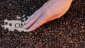 make your name or your company name in coffee beans