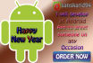 develop an Android Greeting App for any Occasion