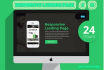 design a responsive landing page or squeeze page