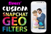 design 2 Super Snapchat GEOFILTER for your event or business