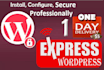 securely install your new wordpress website