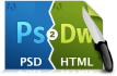 convert psd to responsive html css with good quality