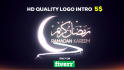 do Eid greeting  animation with your logo