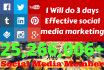 do 3 days EFFECTIVE social media marketing