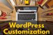 perfom any customization task on wordpress website
