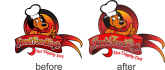 vectorize or redraw your logo or icon
