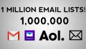 provide 1 million email lists for cheap