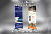 design a print ready retractable or roll up banner
