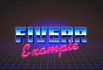 create a retro style 80s name banner
