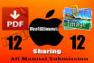 do 12 PDF and 12 image sharing manually submission