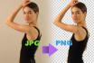 convert 5 JPG into png