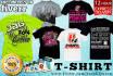 do 2 Professional Tshirt designs