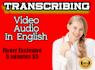10 minutes audio or video transcription