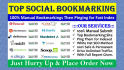 do 50 Manual Social Bookmarking for Your Website, Blog, YouTube Video anything