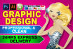 do any type of graphic design and logo design