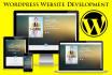 design any type of Responsive Wordpress Website