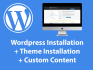 install a WordPress theme and setup demo content very fast