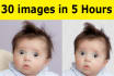 remove photo background of 30 photos in just 5 hours