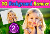remove 10 image background in 24 hours