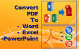 convert your PDF File to Word, Excel or PowerPoint