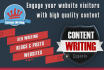 write engaging content for your blogs and websites