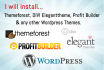 install Themeforest, Divi, Profit Builder, Wordpress themes