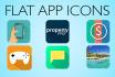 design a flat app icon