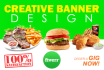 design 12 Professional and Creative Banner Under 8 Hours