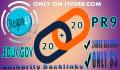 create 20 PR9 plus 20 edu gov Backlinks in 24hrs