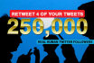retweet 4 of Your Posts on TWITTER to Real Followers