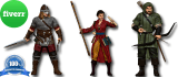 do 3D modeling of Character for 3D printing