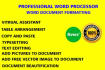 professionally format or edit word document, proofread