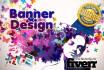 make unique web banner ads, header, cover, website banner