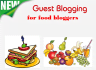 provide a list of 20 food recipe blogs accepting guest posts