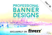 design professional banners, ads and headers