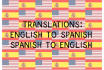 translate 1500 words, English to Spanish