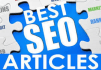 write a highly quality, unique and professional SEO articles