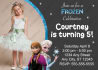 create a custom Disney Frozen Party Invitation