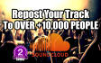 repost your track to over 10,000 followers on SoundCloud